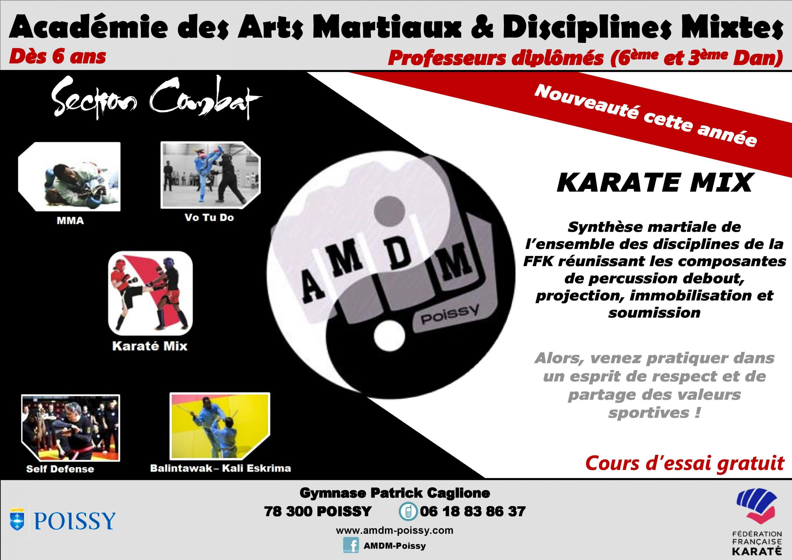 Affiche section combat KMIX 2020-21